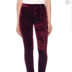 New Joe's high waist skinny red velvet jeans